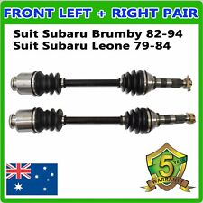 Pair fit Subaru Brumby 1982-1994 Front CV Joint Drive Shafts Left & Right