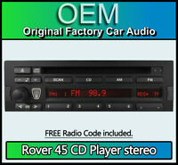 Rover 45 CD player radio car stereo with code, Business CD43 Blaupunkt XQE100380