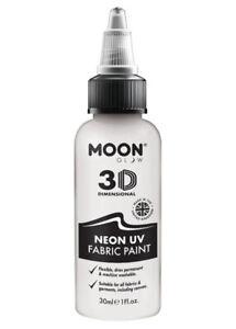 UV Neon White Fabric Paint 30ml
