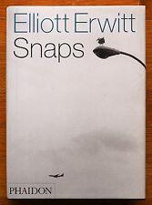 SIGNED - ELLIOTT ERWITT - SNAPS - 2001 1ST EDITION & 1STPRINTING HARDCOVER FINE