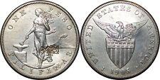 1905-S US/Philippines Peso ~ CHOPMARKS ~ XF/AU Details ~ Allen#16.06 ~ MX803