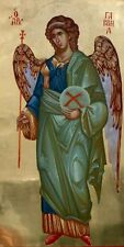 Archangel Gabriel -Hand Painted Eastern Orthodox Byzantine icon on wood