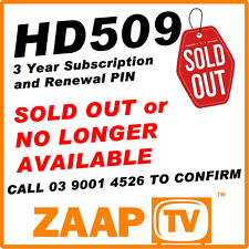 ZAAPTV 509 - 3 Years Renewal Service Subscription for HD509 IPTV   SOLD OUT
