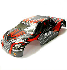 08311 1/8 Scale RC Nitro Monster Truck Body Shell Cover Red Black Cut