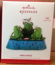 Hallmark Ornament 2013 Jingle Frogs Magic Sound & motion NIB NEW