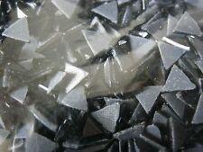 Rhinestone Hot Fix Iron on Heat Press Glass Stone Triangle 6mm Black 1gr/144pcs
