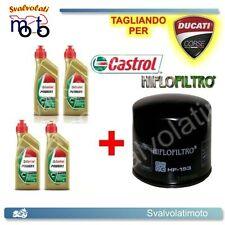 TAGLIANDO FILTRO OLIO + 4LT CASTROL POWER1 15W50 DUCATI MONSTER 750 1998 1999