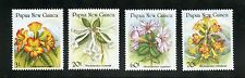 Papua New Guinea Complete MNH Set #703-706 Flowers Stamps