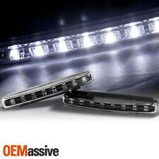 8 SUPER WHITE 12V 6000K DRL LED BLACK DAYTIME RUNNING FOG LAMP LIGHTS +WIRING