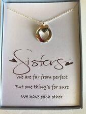 Love Heart Pendant Necklace w/ poem for Sister/Friend
