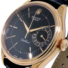 ROLEX 50515 CELLINI DATE 18K EVEROSE PINK GOLD 39 mm BLACK DIAL 50515