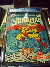 THE SANDMAN  # 1 : CGC 7.5 : VERY FINE+ : WINTER 1974: (DC COMICS) {CGC COMIC}