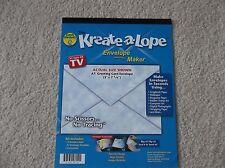 "Envelope Maker, Envelope Template - Make your own envelopes - 5"" x 7 1/8"" - NEW"