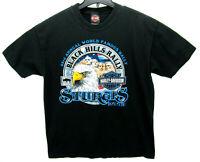Harley-Davidson Men's Size Large 2003 Sturgis T Shirt Black Black Hills Rally