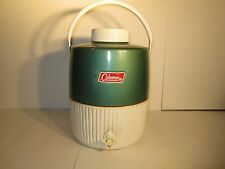 VINTAGE COLEMAN 2 GALLON WATER JUG COOLER GREEN COLOR  PICNIC