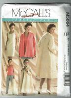 McCalls #5064 Palmer Pletsch Jacket~Coat~Top~Dress & Pants Pattern 16-22 UC
