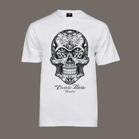 T-Shirt Dia De Los Muertos | Lucha Libre Tattoo Bike Hot Rod Totenkopf V8 weiß