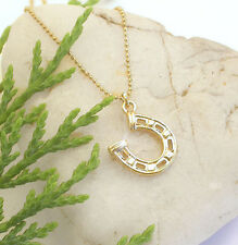 HORSE & WESTERN JEWELLERY JEWELRY LADIES COWGIRL HORSESHOE NECKLACE GOLD