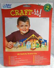 Natividad Escena 3D Kit De Arte-Paquete de 2 Kits-Niños Craft Kit-Nuevo Y En Caja
