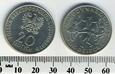 Poland 1979 - 20 Zlotych Copper-Nickel Coin - International Year of the Child