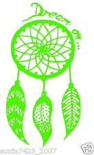 Dreamcatcher Dream On Car or Truck Window Laptop Decal Sticker Lime Green