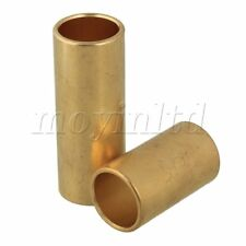2 x Guitar Finger Knuckle Brass Slide Tube Golden 62x22/40x22mm