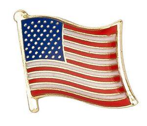 Stars & Stripes (USA) American Flag Lapel Pin Badge  High Quality Gloss Enamel