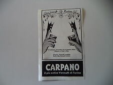 advertising Pubblicità 1957 AMARO CARPANO PUNT E MES