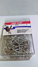 Eagle Claw 6331-3 Kirby Seahook Ring Eye Hook, Sea Guard Finish