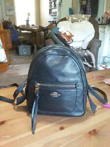 SMALL BLACK COACH LEATHER BACKPACK