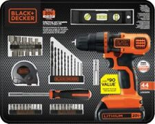 Black and Decker 20-Volt MAX Lithium Ion Cordless Drill 44-Piece screwdriver Set