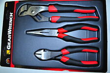 KD GearWrench 82104 3 Pcs Plier-Needle Nose ,Side Cutter and water pump plier