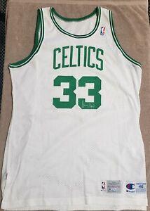 Larry Bird Game Issued Autographed 92-93 Champion Boston Celtics Jersey UDA COA