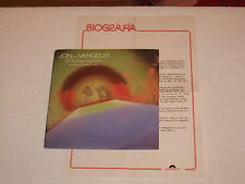 "JON & VANGELIS I´LL FIND MY WAY.. ROCK PROGRESSIVE RARE SPAIN ""PROMO"" SHEET 7"""