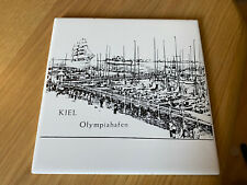 More details for extremely rare olympics munich kiel 1972 sailing tile artwork picture germany