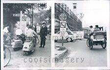 1955 People on Motor Scooters Bilingual Street Signs n Tokyo Japan  Press Photo
