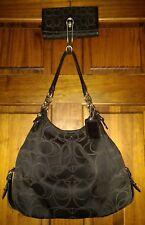 Coach Madison Maggie Mia Black Shoulder Bag & Matching Wallet Set 16153