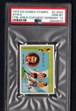1974 E.Q.GUINEA STAMPS AYALA PSA 10 FTBL WLRD.CUP /WEST GERMANY.# 2.25EK POP 1