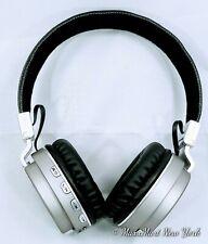 BT6. Blue Tooth Wireless Headphone Light Weight Great Sound Silver