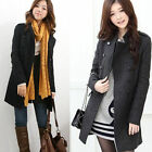 Womens Double-Breasted Slim Winter Lady Warm Trench Coat Jacket Overcoat Fashion