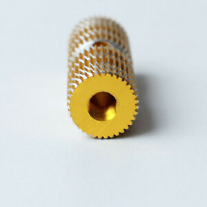Textured Gold Round Cylinder Kid-Sized Bike Foot Peg Aluminum Alloy 1 Pair