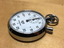 Rare - Heuer Sport Chrono Trackmaster 1/5 Vintage Stopwatch 2 3/32in - Ref. 805