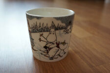 MUMIN Tasse/Becher SKIING WITH MR BRISK Winter 2014 MUUMI/MOOMIN Mug Arabia RAR!