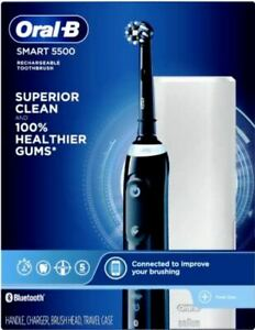 Oral-B Smart 5500 Electric Toothbrush, Rechargeable, Black