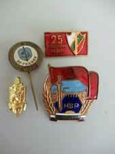 Bulgaria Socialist Mvr Badges Medal. 4 Different Insignias. Original. Rare. Vf+