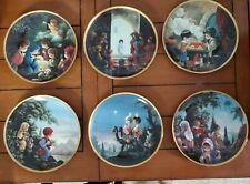 Precious Moments Bible Story Plates Lot of 6 Christmas story