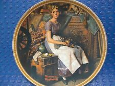 Norman Rockwell plate - Dreaming in the Attic