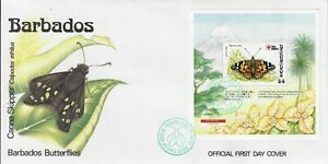 BARBADOS 1991 BUTTERFLIES MINI SHEET MS964 FIRST DAY COVER