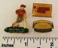 3 Little League Baseball PINs - WA D1 DIV1 - Puget Sound Etc