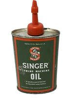 SINGER Sewing Machine Oil Handy Oiler Tin Can 3 oz Oval Made Made in USA Vintage